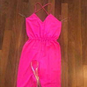 Celeb boutique pink pants romper